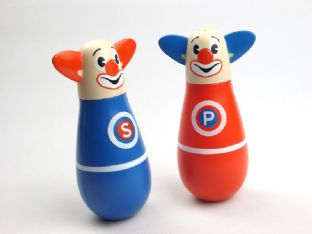 Clown Salt And Pepper Shaker Silly Circus Seasoning Pots
